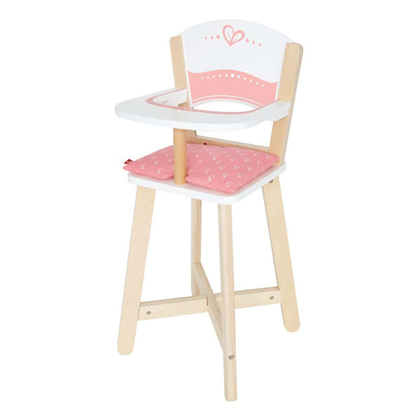 Pink Hape Wooden Baby Doll Play Highchair Seat Toddler Toy High Chair Furniture