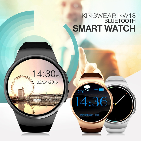 KW18 Smartwatch Cell Phone Wrist Watch Smart Watch Gps Android Fitness  Heart Rate Detection