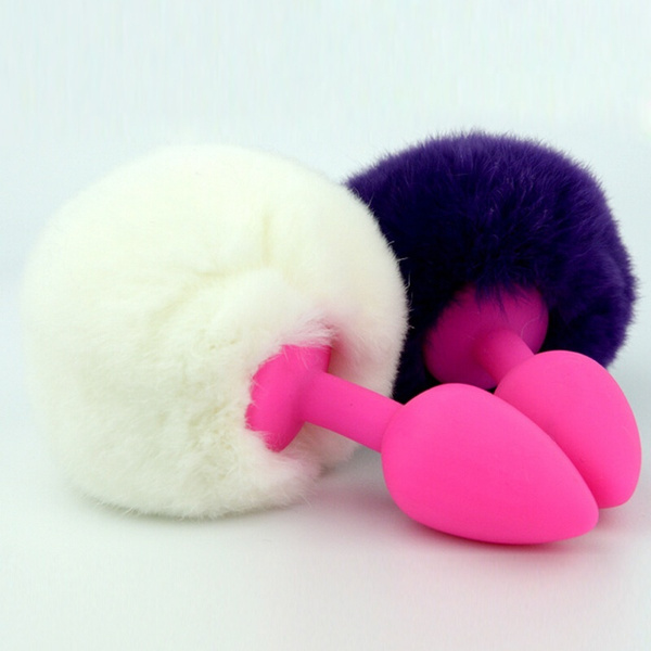 fe7029d3f Fashion Small Size Rabbit Tail Anal Plug Bunny Tail Butt Plug Anal ...