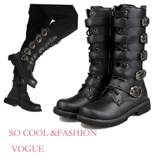 combat boots, Mode, Combat, leather