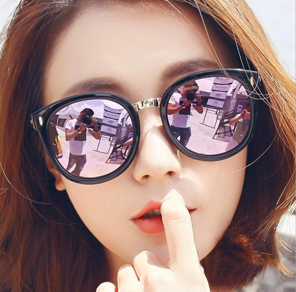 Vintage, Fashion, reflectivesunglasse, Round Sunglasses