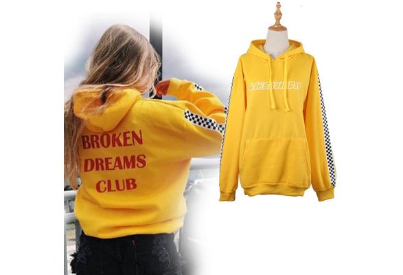 Fashion Sweatshirt Creative Letter Printed Broken Dreams Club Hoodie