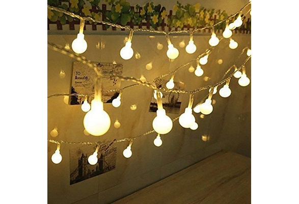 100 Led Globe String Lights, Ball Christmas Lights, Indoor / Outdoor Decorative Light, 39 Ft, Warm White Light - for Patio Garden Party Xmas Tree Wedding Decoration By Spiritup - US/ EU/ UK Plug