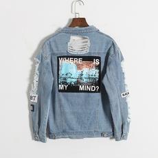 Blues, Casual Jackets, Fashion, Embroidery
