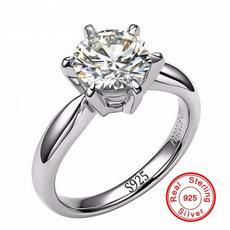8MM, DIAMOND, 925 sterling silver, Jewelry