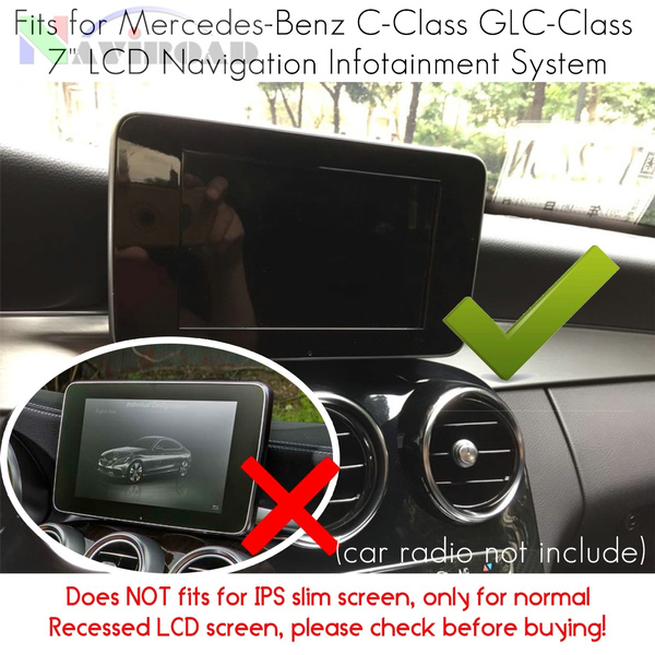 2Pack Tempered Glass Screen Protector Special for Mercedes-Benz C-Class  C180 C180L C200L C260 GLC 200 260 300 7 inch Radio Navigation Infotainment
