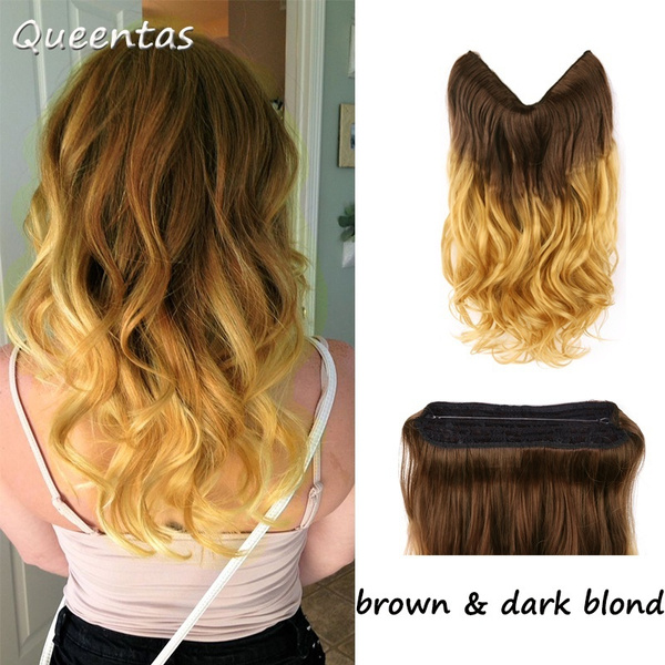 Geek 20 Ombre Dip Dye Secret Miracle Wire Hair Extensions