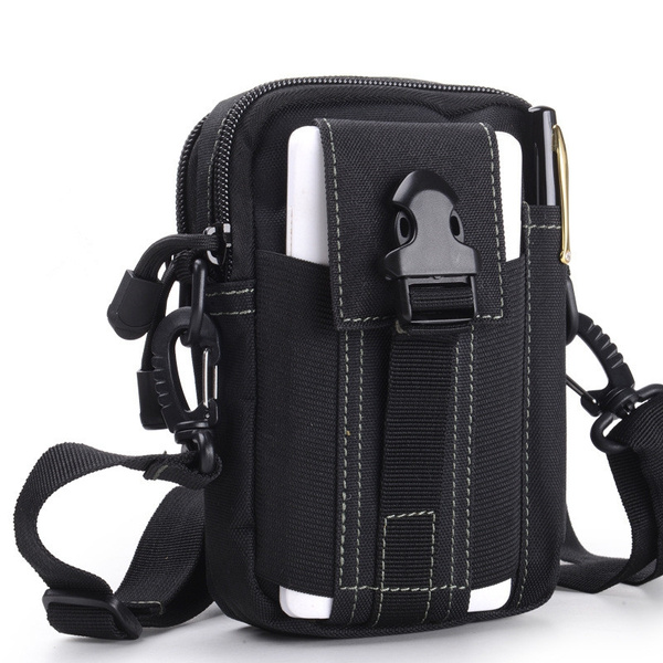 Men Leather Fanny Pack Waist Belt Cell Phone Case Pocket Purse Pouch Sport Bag