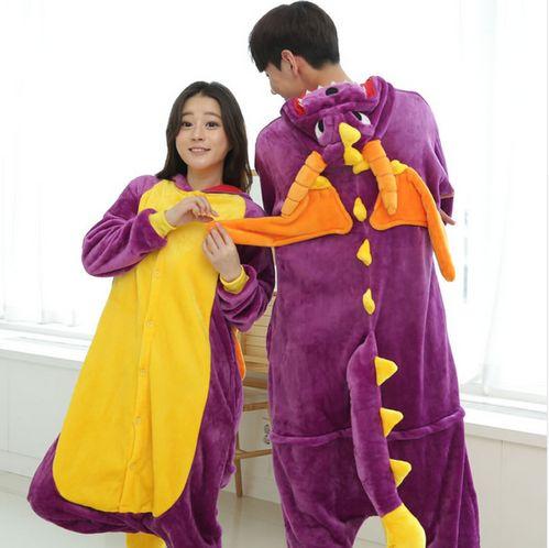 Spyro Dragon Unisex Adult Kigurumi Animal Pajamas Cosplay Costume Sleepwear ^^