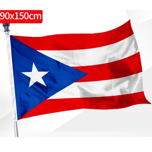PUERTO RICAN FLAG OF PUERTO RICO  3 X 5 FEET WITH BRASS GROMMETS INDOOR OUTDOOR