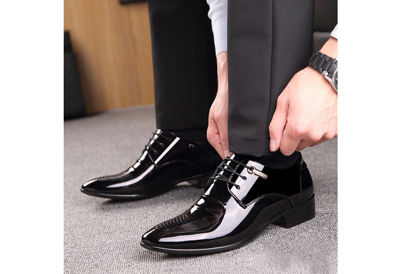 Mens Work Business Casual Leather Shoes Smart Dress Formal Wedding Flat Loafers