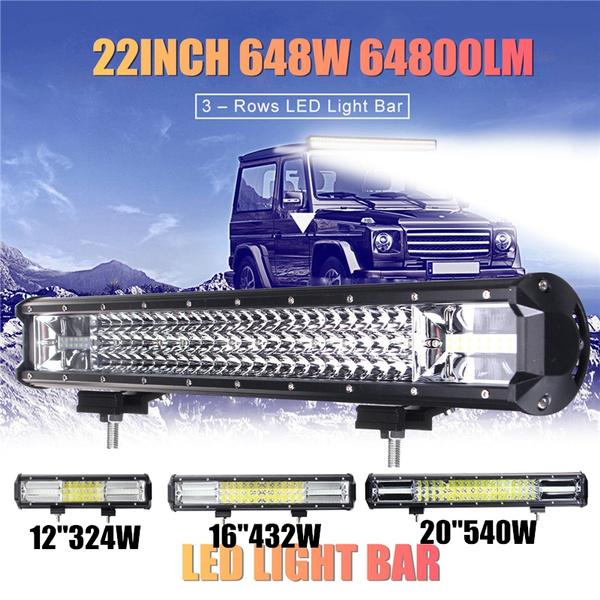 "20/"" Inch 540W LED Work Light Bar Flood Spot Combo Offroad Driving Lamp Car Truck"