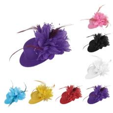Fashion, flowerfeatherhat, Cocktail, headwear