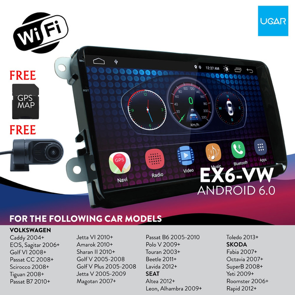 (Free DVR Camera) 9 inch Android 6 0 Full Touch Screen for VW Volkswagen +  Wifi + GPS + Bluetooth + AM/FM + MP3/4/5 + USB port x 2 + Aux Input +