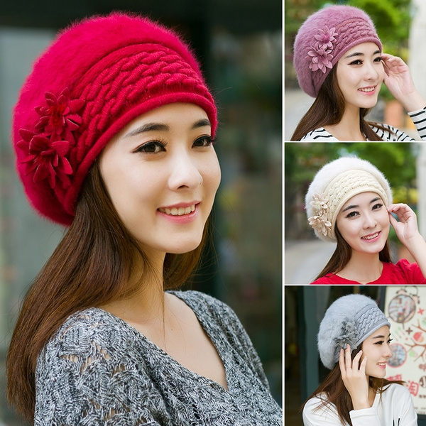 0a2867f1a5e Women New Design Caps Twist Pattern Women Winter Hat Knitted Sweater ...
