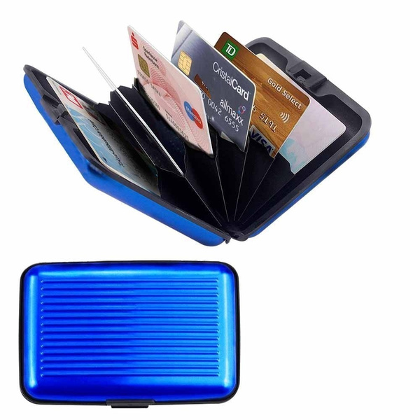 Carte Bleue Wish.Porte Cartes Bleu Carte Bleue Cb Visite Aluminium Rigide Secutity Credit Card Wallet Holder Bleu
