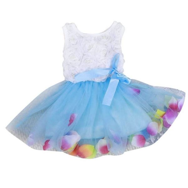 aa8262a2e Summer Girls Colorful Mini Tutu Dress Petal Hem Dress Floral Clothes ...