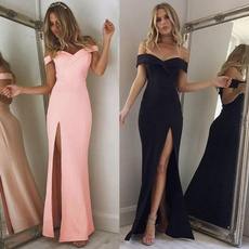 women sexy dress, gowns, Fashion, solidcolordre