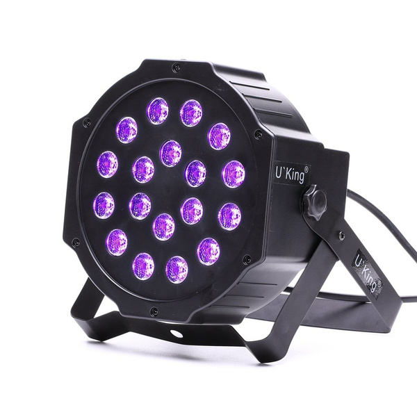 18W UV18 LEDs Par Stage Effect Light DMX512 Sound Activated for Disco DJ  KTV Bar Wedding