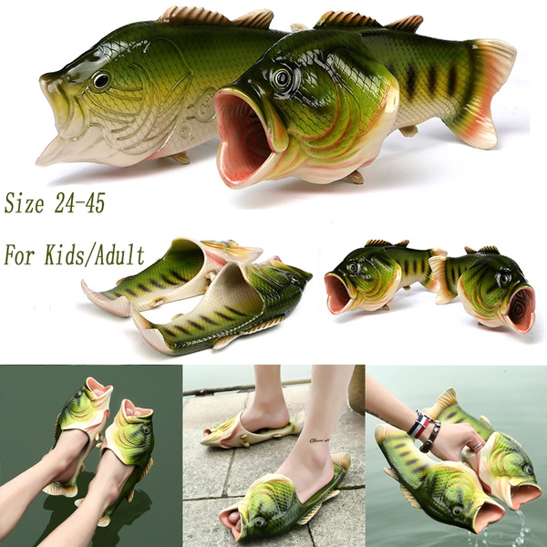 3e36fae75 Great Gifts Size 24-45 Summer Fish Slippers Beach Men Women Slippers ...