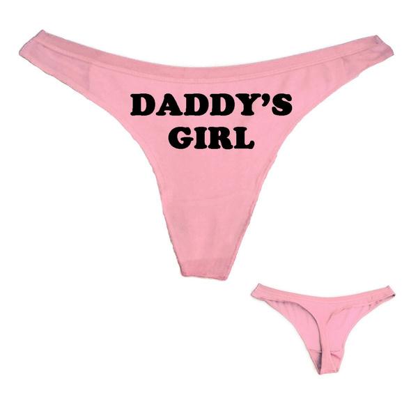 Women G-String Thongs Letter Print Knickers Lady Panties Low-Waist Briefs