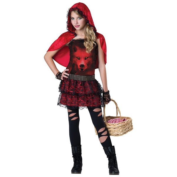 Red In The Hood Little Red Riding Hood Costume Tween Child Wish