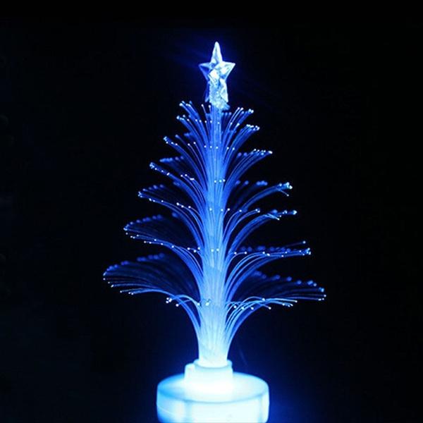 wish led fibre optic christmas tree sweet design and lightings mini xmas night light 2 pcs
