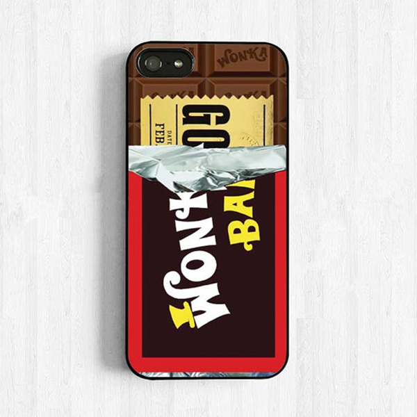 Willy Wonka Chocolate Bar With Golden Ticket Inside Wonka Bar Iphone 4 5 6 7s Plus Case Samsung Galaxy S4 S5 S6 S7 S8 Cover