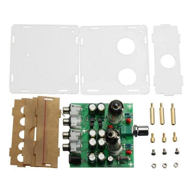 DIY AC 12V 6J1 Valve Pre-amp Tube PreAmplifier Board Headphone Buffer  Kit+Case