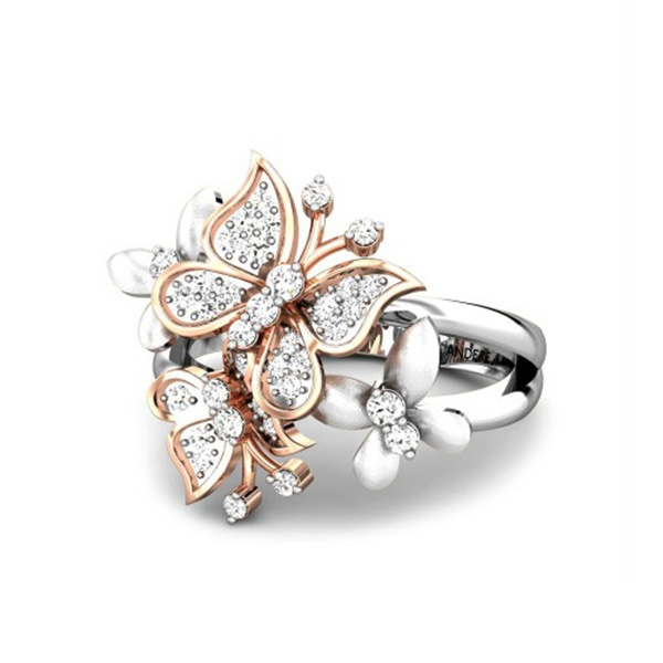 rings floral microset s ring diamond chas gold design blended