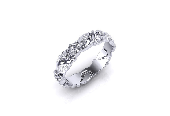 Popular Vintage New Jewelry Women's 925 Sterling Silver Leaf Floral Bridal Wedding Engagement Band Ring Size 6 - 10