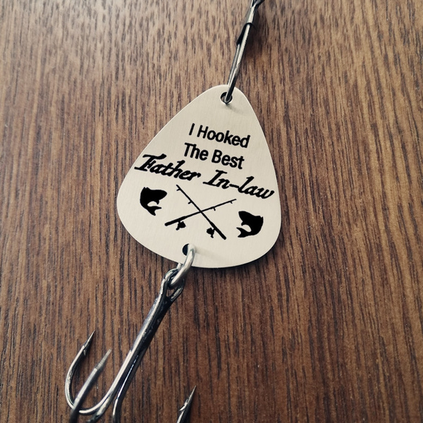 wish christmas gift i hooked the best father in law fishing lure gift wedding fishing lure father in law gift mens gift dad gift parent to be - What To Get Father In Law For Christmas