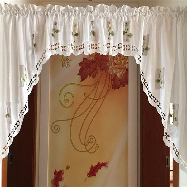 2017 rustic kitchen curtains styles short cafe curtains for kitchen door  curtain embroidered voile window curtains