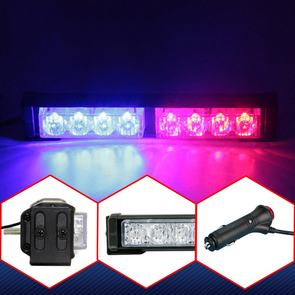 Universal 8 LED 12V Car Strobe Lights Police Emergency Warning Lights Flash  Light Car Daytime Running Lighting