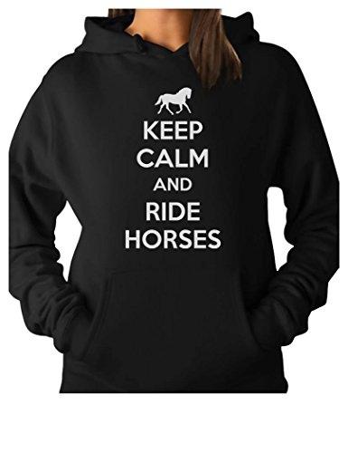 Keep Calm Ride Horses Horse Riding Women Hoodie Gift