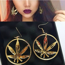 Hoop Earring, Dangle Earring, punk earring, gold