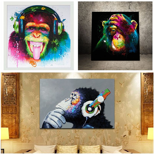 musicpainting, Decor, art, monkey
