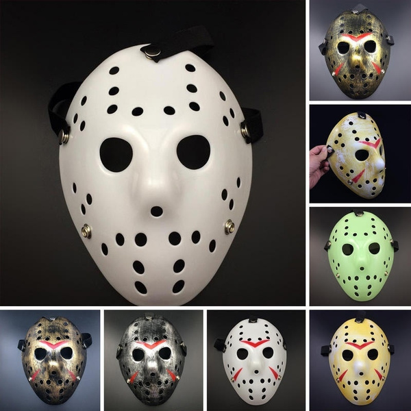 Halloween Hockey Masker.Hot Sale Halloween Jason Voorhees Mask Friday The 13th Horror Movie Hockey Costume Prop