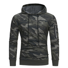 armygreen, sportscoat, Plus Size, hooded sweatshirt