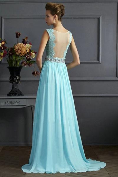 Wish | YYH Damen Lang Chiffon Promi-Kleider Maxi Abendkleider ...