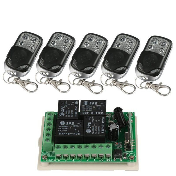 FFASH 1 Set 433MHz RF Simple Practice Perfect High Quality Safe High  Integration Electronic Ordinary Super Regeneration Board Wireless 4-Channel