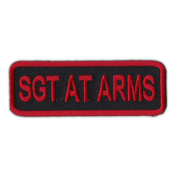 Motorcycle Jacket Embroidered Patch - Rank Sergeant Position Sgt At Arms