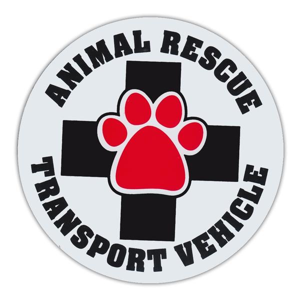 "SUVs ANIMAL RESCUE TRANSPORT VEHICLECars Trucks 4.75/"" Round Pet Magnets"