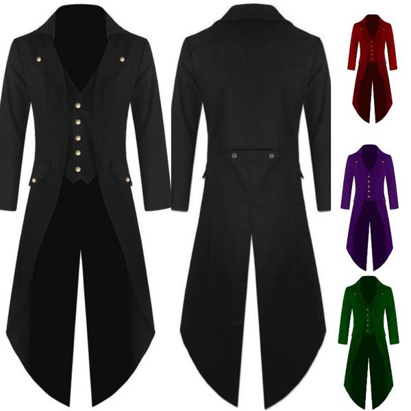 bfdbe998c400 Gentlemen Men's Coat Fashion Steampunk Vintage Tailcoat Jacket ...