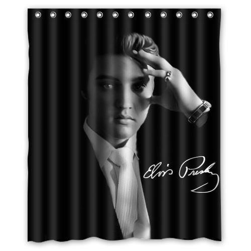 New Custom Elvis Presley Waterproof Bathroom Fabric Shower Curtain 60 X 72 Inch