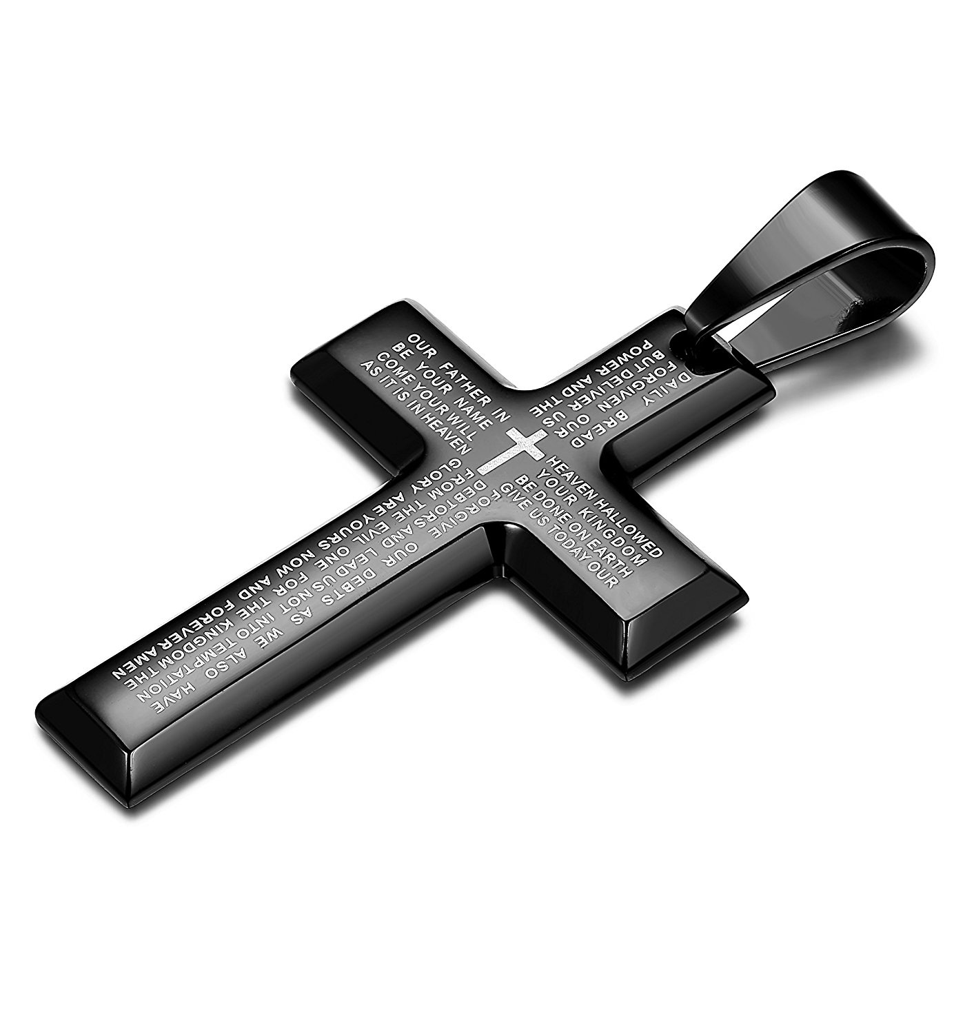 1d596a6915b Classic and Stylish Cross Design, High Polished Beveled Edge, Perfect to  Keep as Daily Jewelry. Made of Quality Stainless Steel, Durable, Perfect to  ...