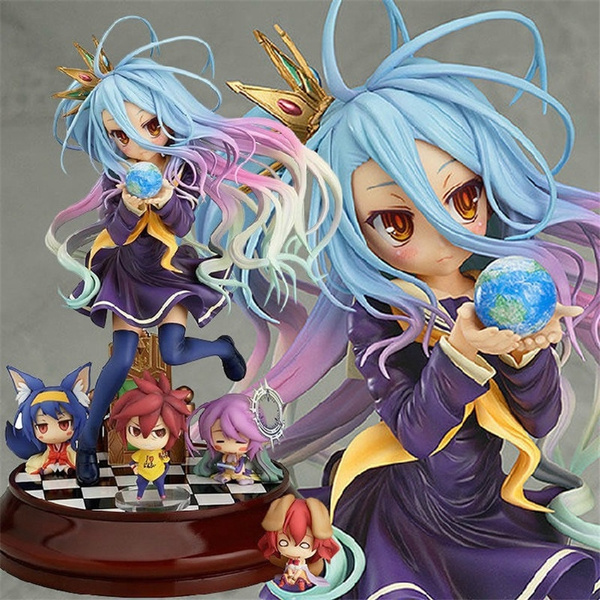 Toys & Hobbies Lovely Cartoon Movie Action Figure Model Furnishing Articles Anime No Game No Life 2 Hand Toy Doll Kids Holiday Gift Collection