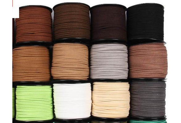5 meters 3mm Suede Flat Leather Cord Bracelet Faux Velvet Cords Necklace Rope Thread String Necklace DIY Jewelry Findings
