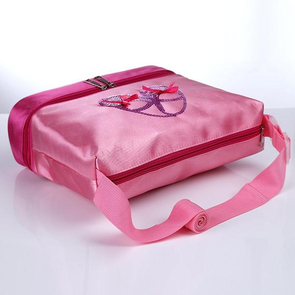 Pink-Girl-Kids-Gymnastics-Dance-Ballet-Swim-Duffle-Bag-Backpack-Embroidered-Tote