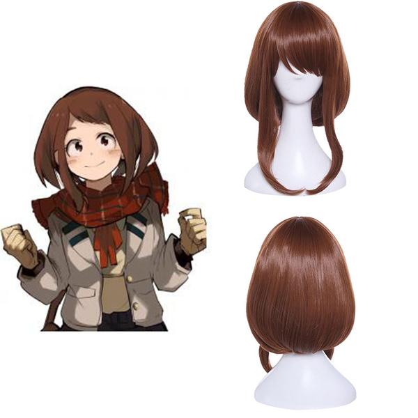 35cm Anime My Hero Academia Ochaco Uraraka Short Cosplay Wig